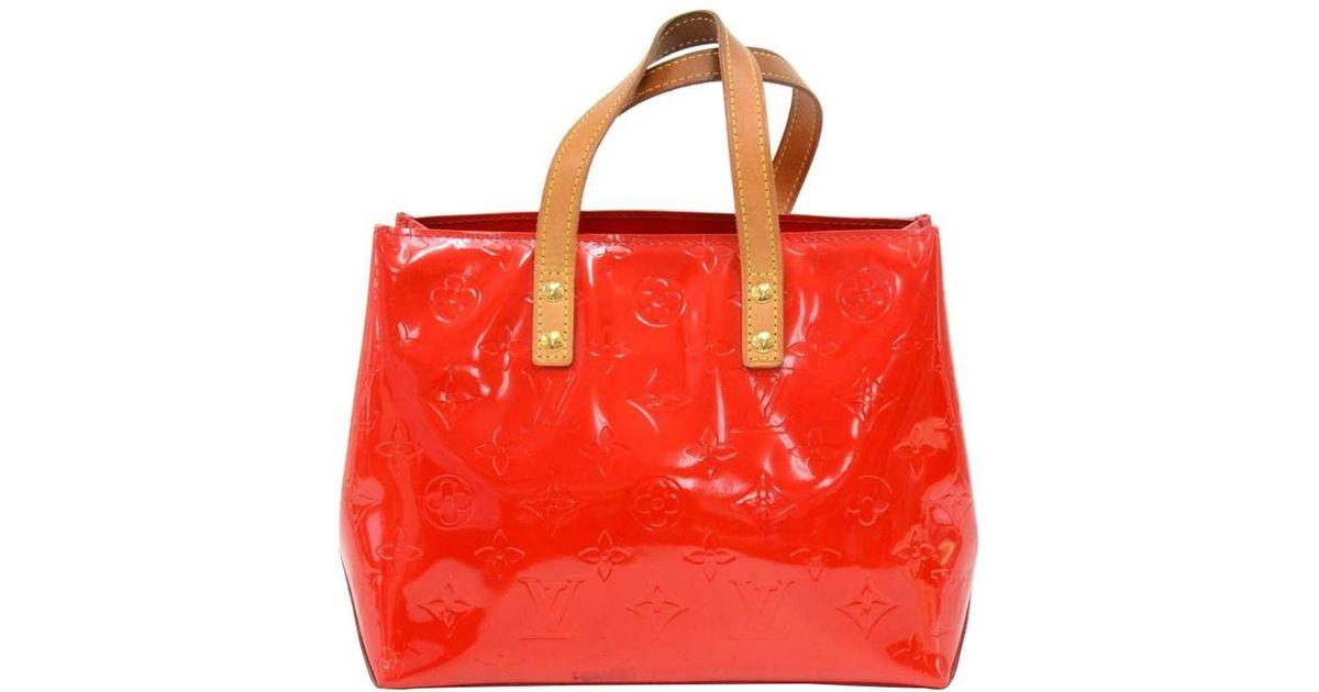 8a1c0dd364f8 Louis Vuitton Sunset Monogram Vernis Reade Pm Bag in Orange - Lyst