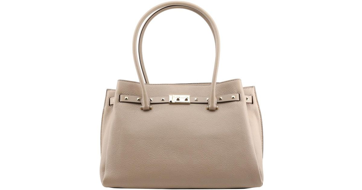 8846957bab2f99 Michael Kors Truffle Pebbled Leather Large Addison Tote in Natural - Lyst