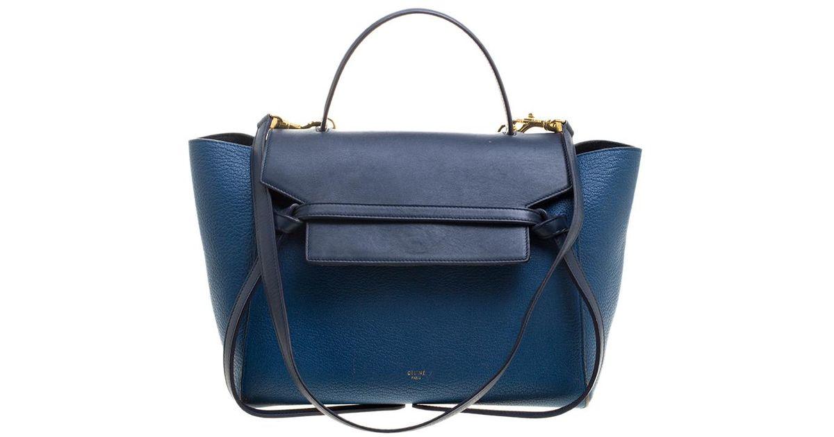 220dd90bbd Lyst - Céline Leather Belt Tote in Blue