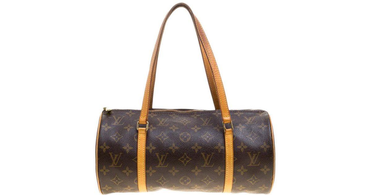 c7fe0bdee76f Louis Vuitton Damier Ebene Canvas Papillon 30 Bag in Brown - Lyst