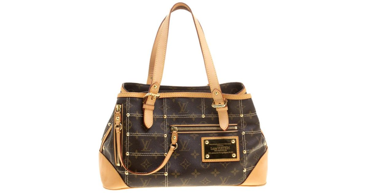 7f947f637e6f Louis Vuitton Monogram Canvas Limited Edition Riveting Bag in Brown - Lyst