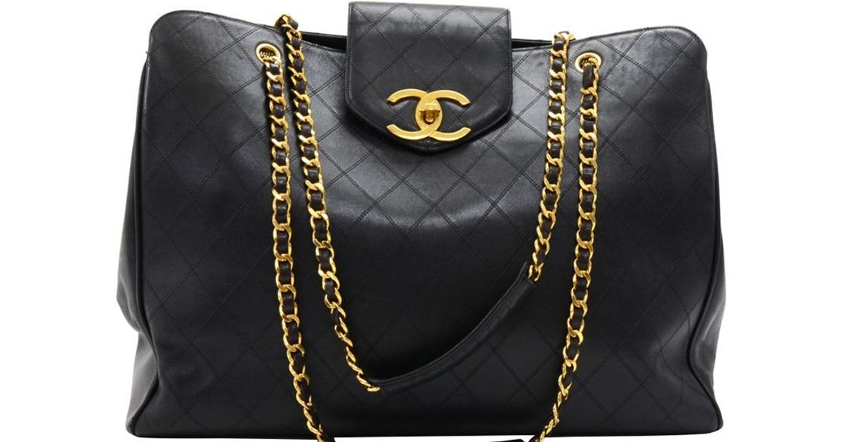 90e51b5ef183 Chanel Quilted Xl Vintage Supermodel Bag in Black - Lyst