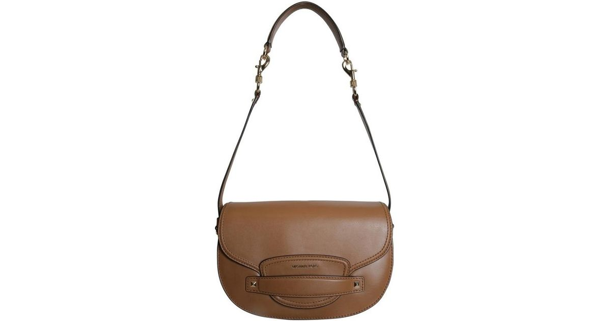 cbb44e82f4c75 MICHAEL Michael Kors Leather Medium Cary Saddle Crossbody Bag in Brown -  Lyst
