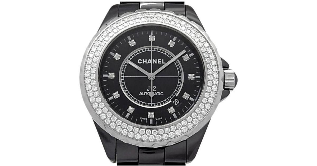 99ac10de856 Lyst - Chanel Ceramic And Stainless Steel Diamond J12 Men s Wristwatch 42mm  in Black for Men