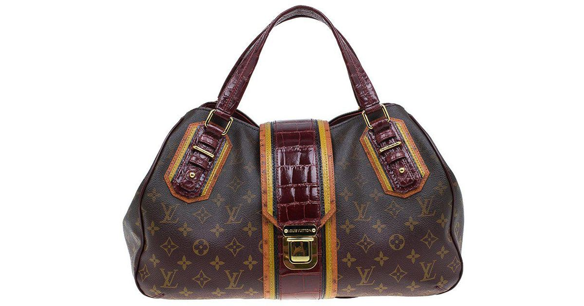 178dd593909c Louis Vuitton Monogram Limited Edition Bordeaux Mirage Griet Exotic Bag in  Brown - Lyst