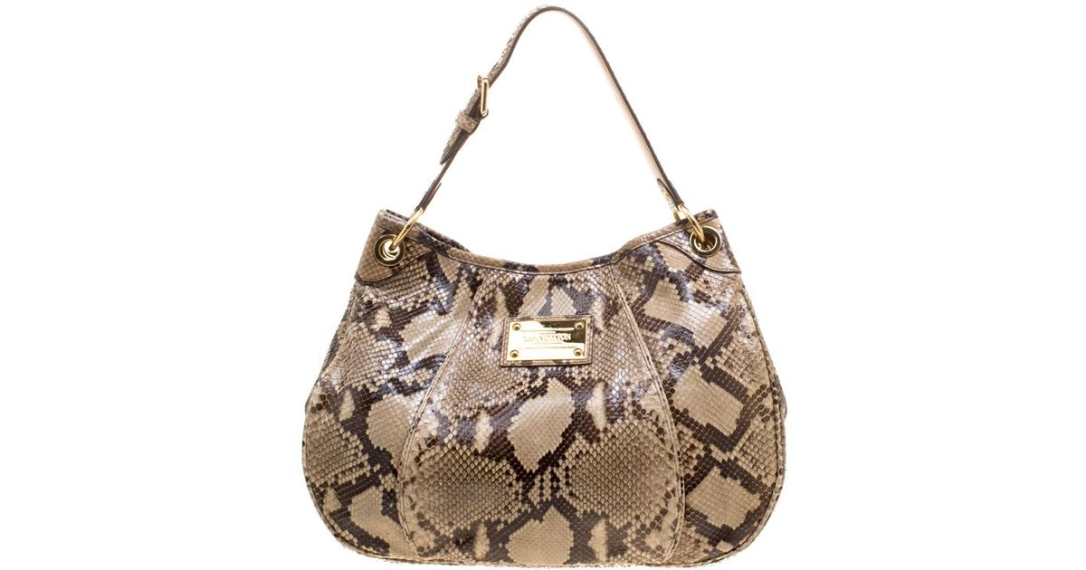 3495d6f95328 Lyst - Louis Vuitton Python Limited Edition Galliera Smeralda Pm Bag in  Natural