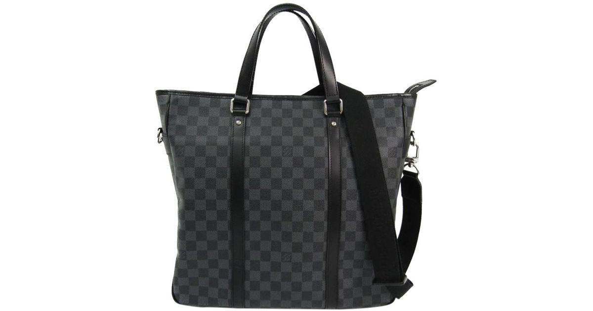 15bb47d186bc Lyst - Louis Vuitton Damier Graphite Canvas Tadao Bag in Black for Men