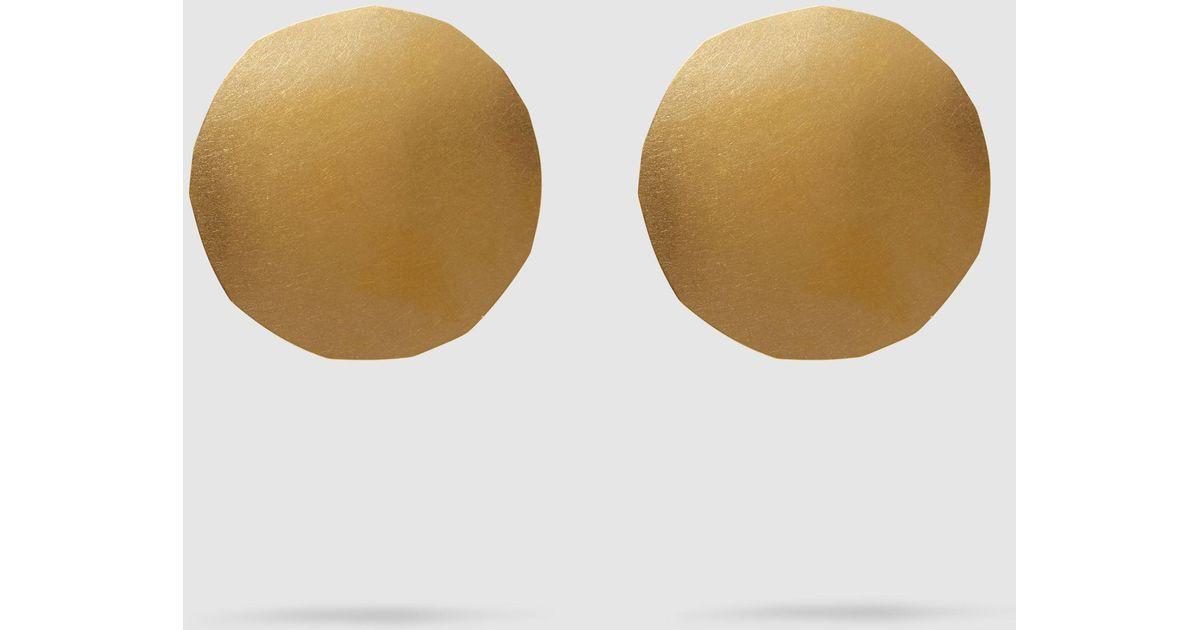 Wabi Gold-Tone Earrings Annie Costello Brown GZrzBTqS