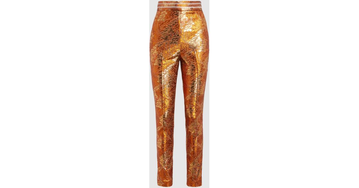 Metallic Stretch-Jacquard Skinny Trousers Peter Pilotto b8kFe