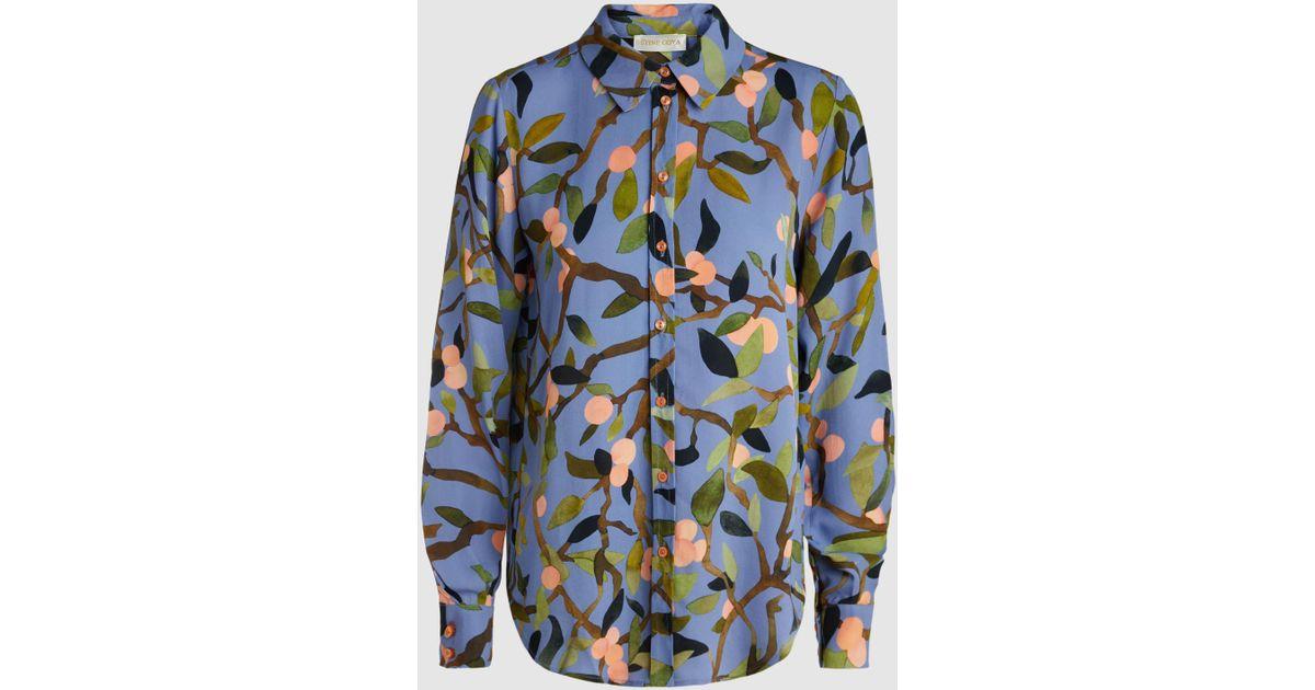 8836cde30e3 Stine Goya Maxwell Peach Tree Printed Shirt in Blue - Lyst