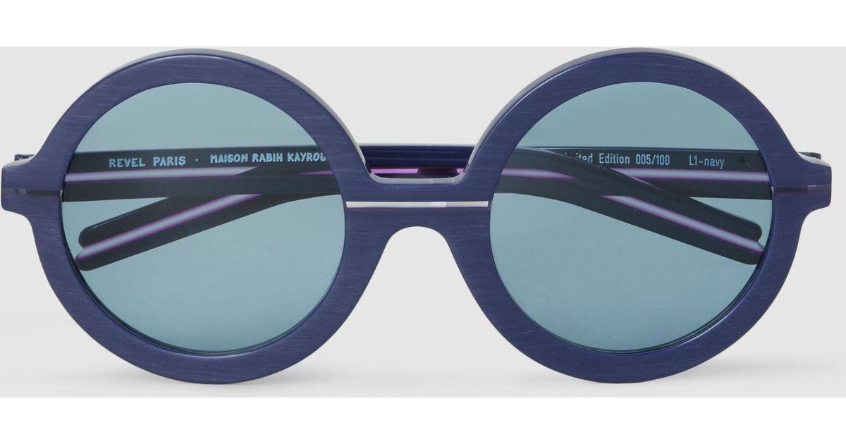 Maison Rabih Kayrouz x Revel Navy Round Sunglasses Maison Rabih Kayrouz VpiDy