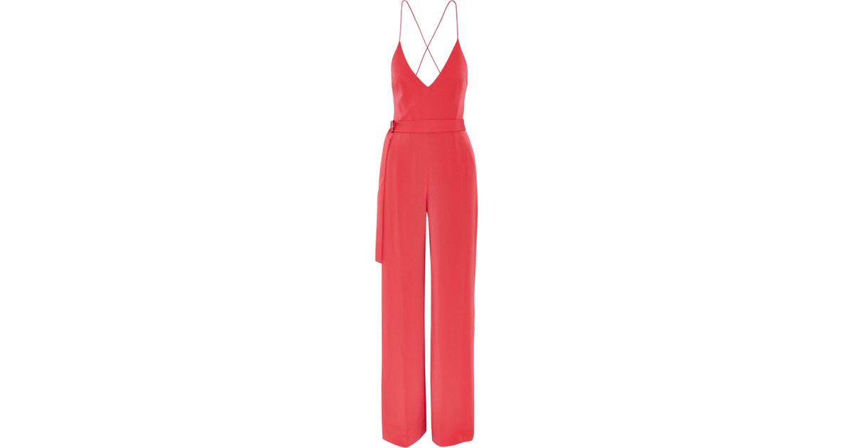 31c0c5a3911 Lyst - Alexis Zaylee Crepe Jumpsuit in Red