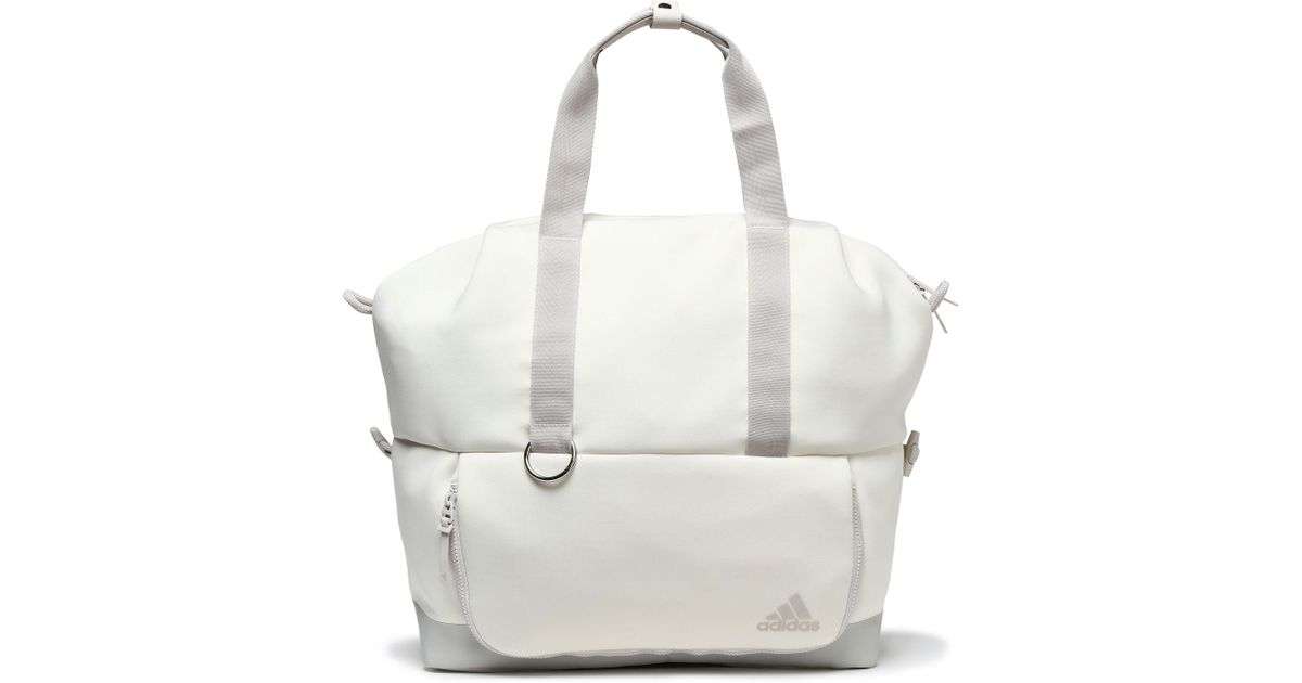 adidas Woman Neoprene Gym Bag Off-white in White - Lyst 395c7c1f2be01