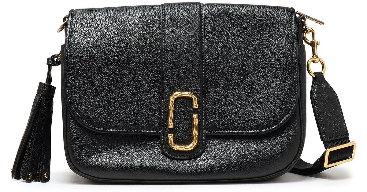 456403d3d81c Marc Jacobs Woman Tasseled Textured-leather Shoulder Bag Black in Black -  Lyst