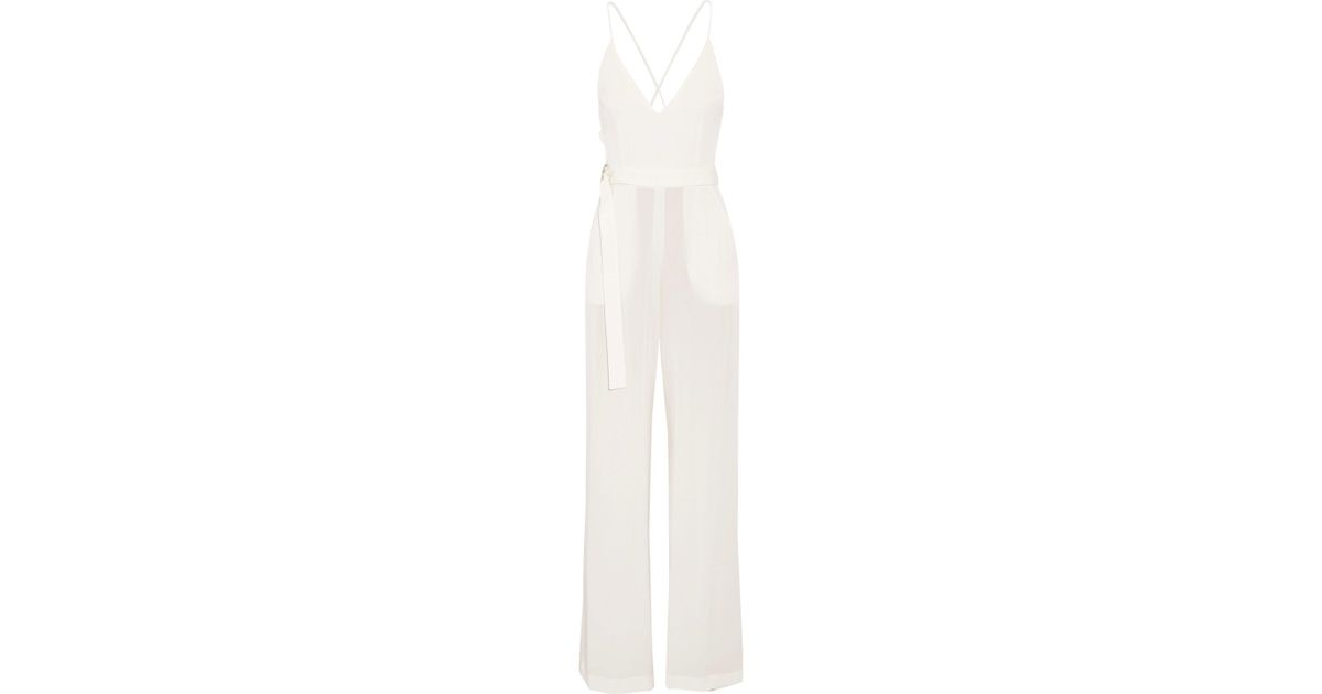 015188e9599 Lyst - Alexis Zaylee Crepe Jumpsuit in White