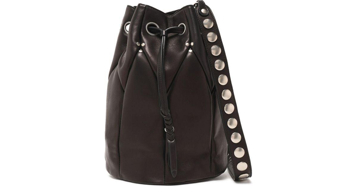 1b057407f0d6 Jérôme Dreyfuss Popeye Leather Bucket Bag in Brown - Lyst