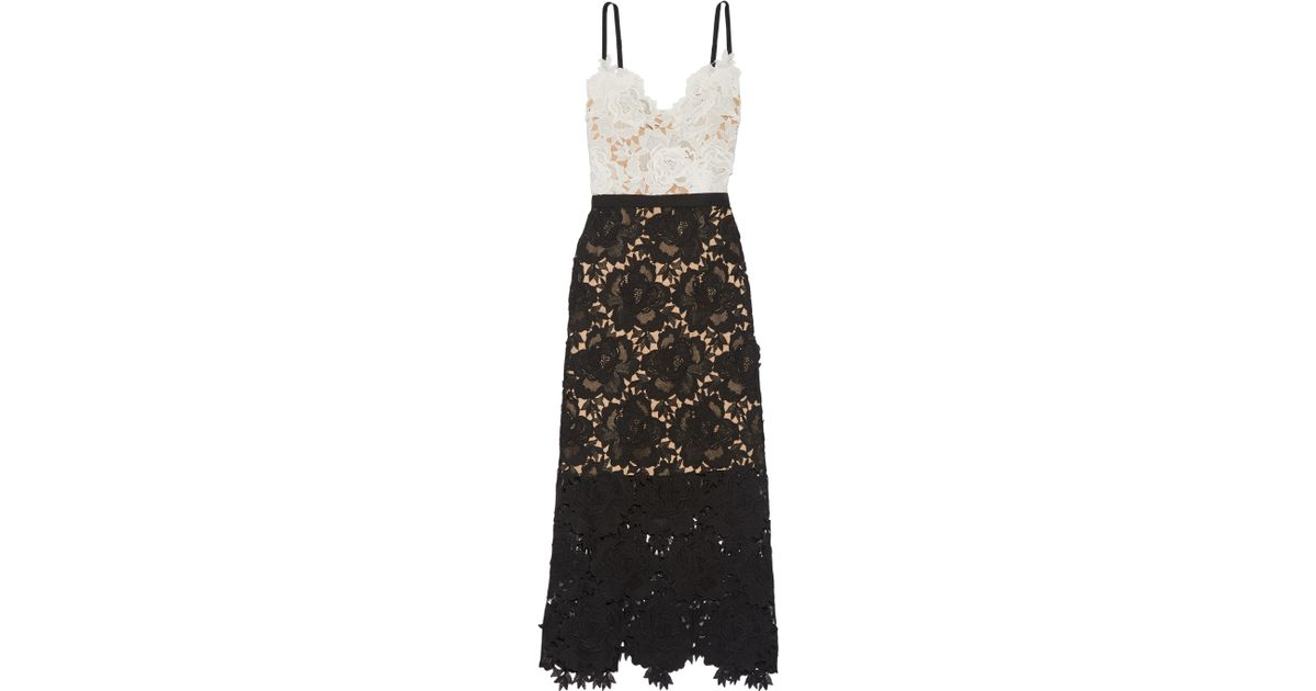 9308d818a61f Lyst - Catherine Deane Frida Floral Lace Midi Dress in Black