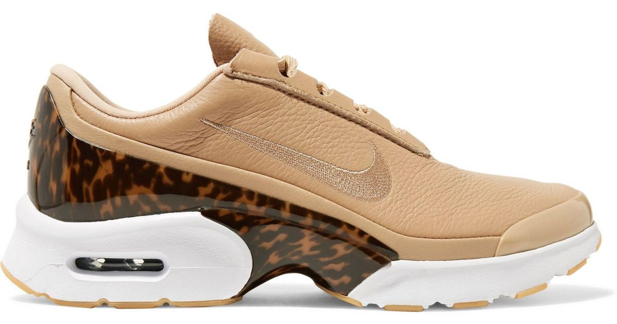43b5857715 Nike Air Max Jewell Lx Leather And Tortoiseshell Plastic Sneakers in  Natural - Lyst