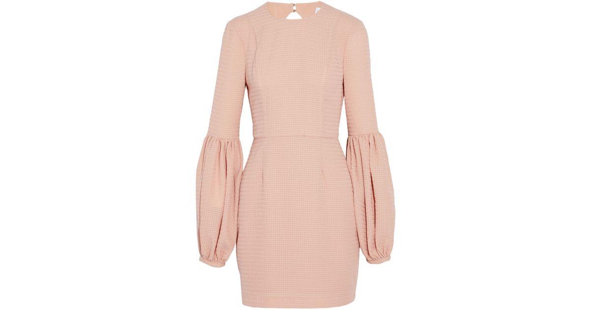 Rebecca Vallance Woman Cutout Gathered Jacquard Mini Dress Baby Pink Size 10 Rebecca Vallance w8hvfB36Ex