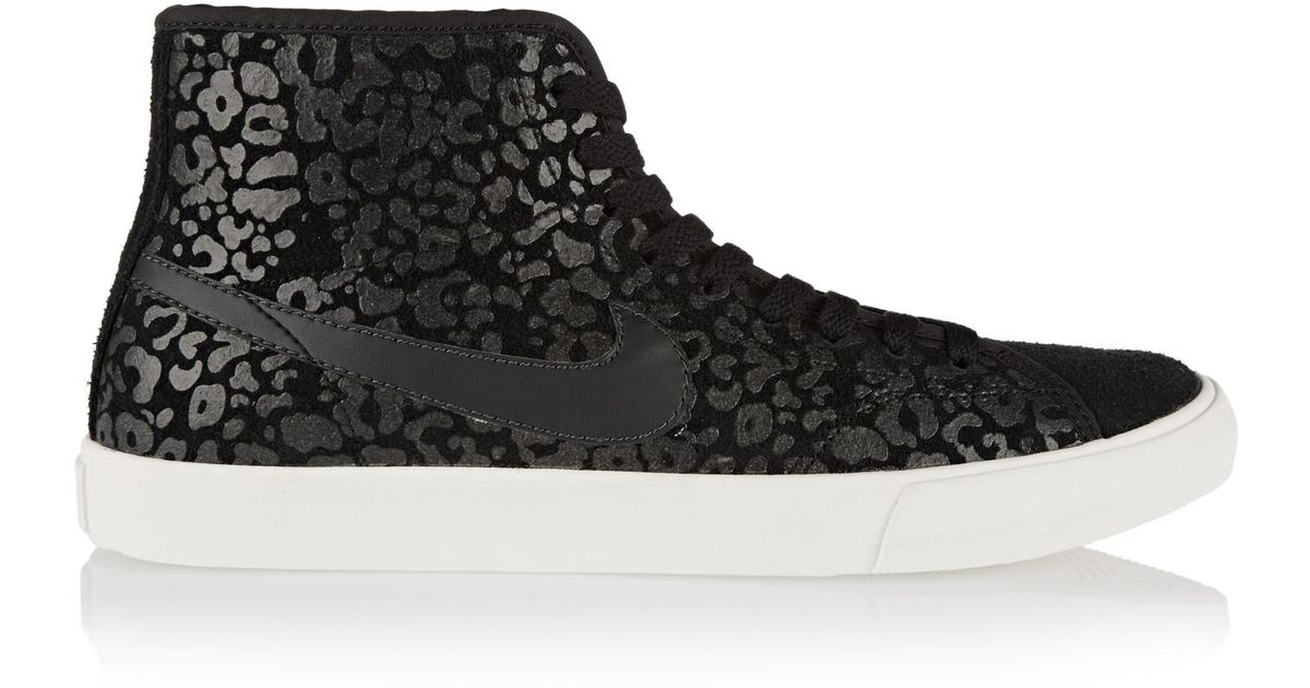 cheap for discount a692d 6054e Lyst - Nike Primo Court Leopard-print Suede High-top Sneaker