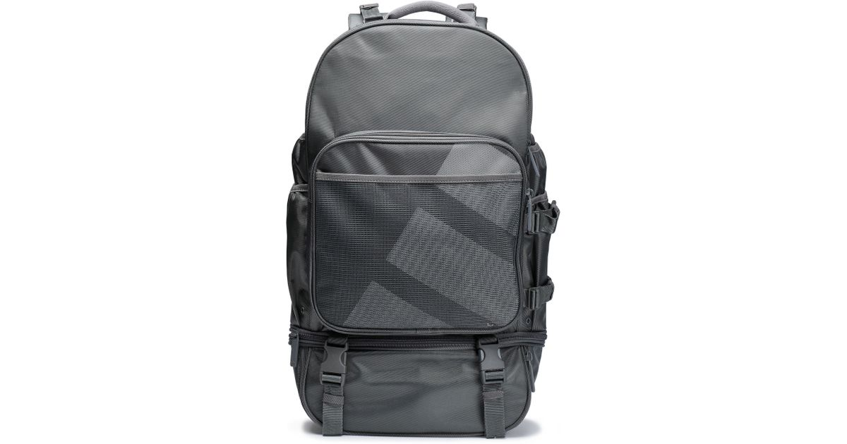 adidas Originals Woman Mesh-paneled Printed Twill Backpack Gray in Gray -  Lyst 676703c80f