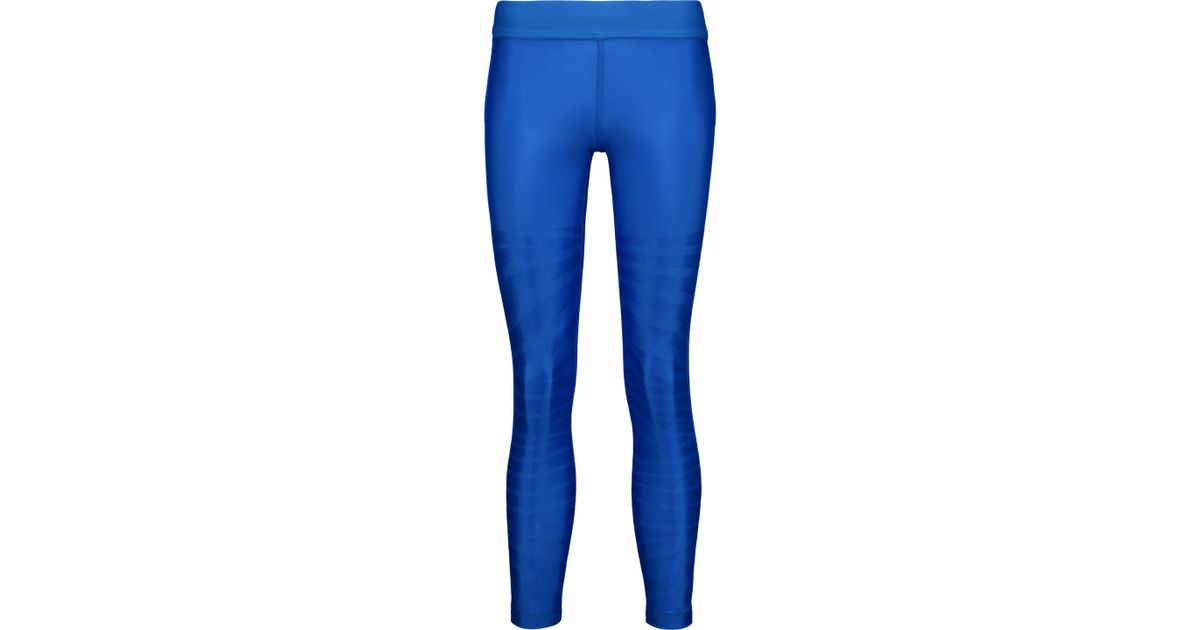 Adidas By Stella McCartney Bedruckte Leggings Royal Blue Lyst
