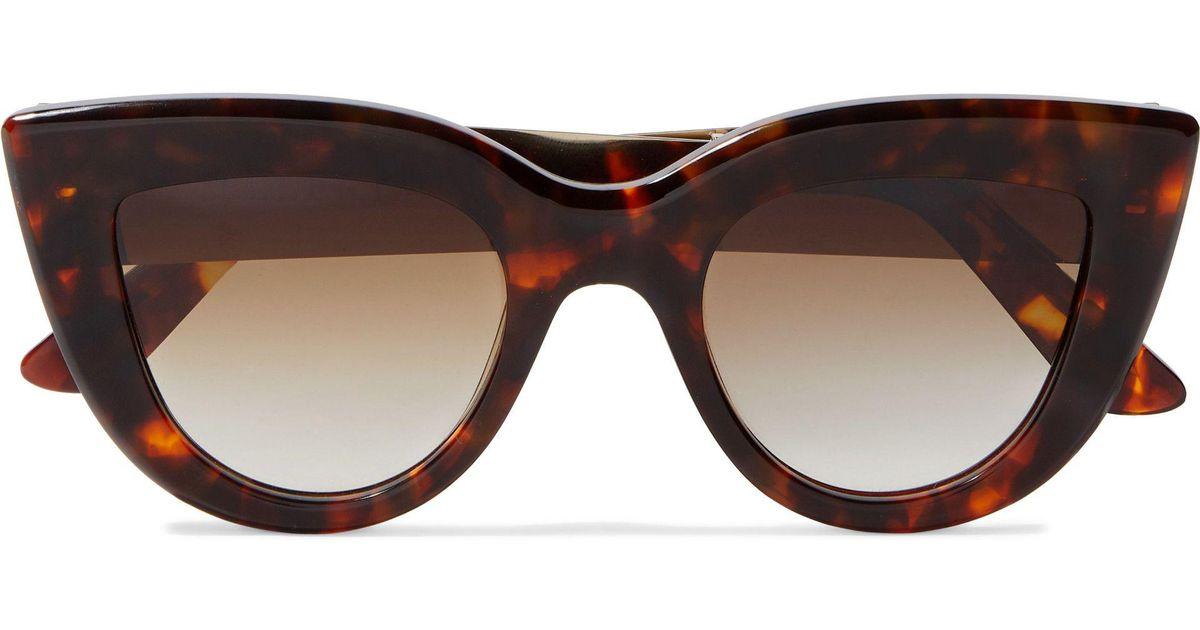9a2e1522e9 Lyst - Ellery Quixote Cat-eye Tortoiseshell Acetate And Gold-tone  Sunglasses in Brown
