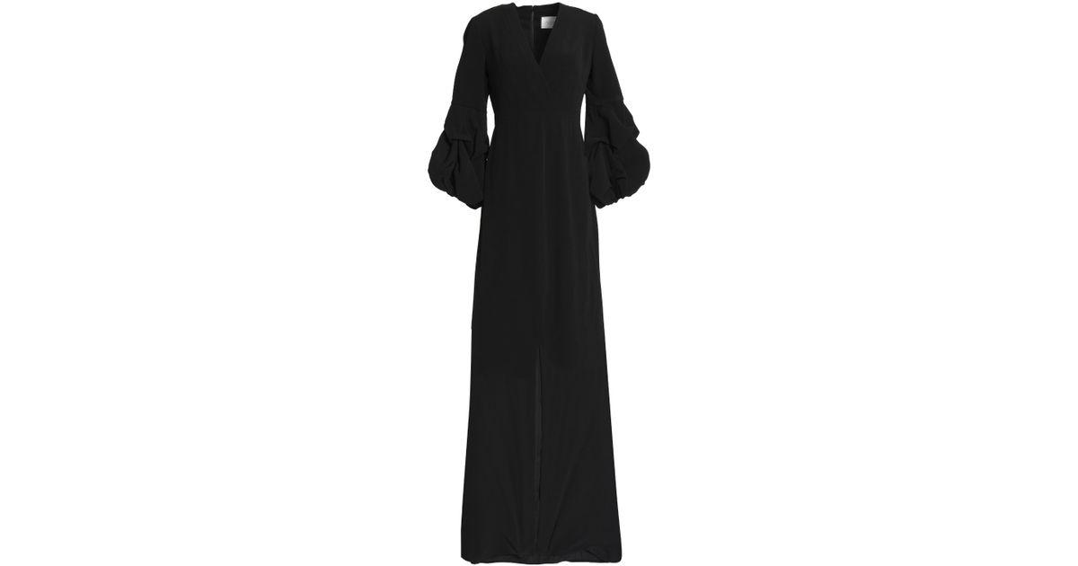 cf9f4aeb581 Lyst - Alexis Woman Nova Wrap-effect Crepe Maxi Dress Black in Black