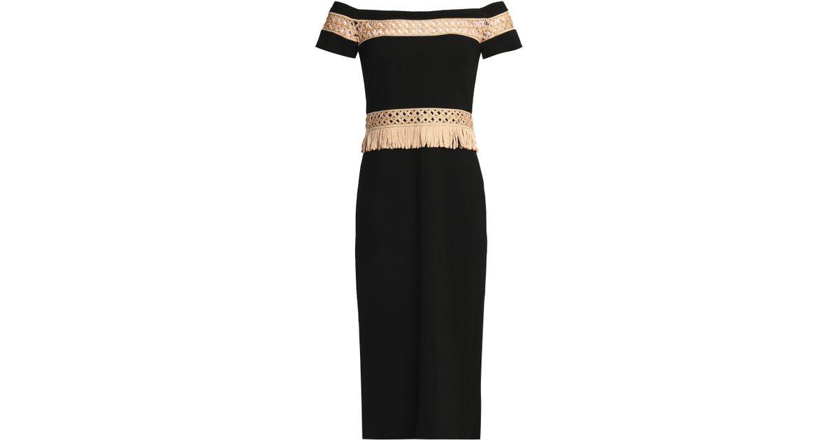 e9396c9d3dcd alexis-Black-Woman-Off-the-shoulder-Lattice-trimmed-Cady-Dress -Black-Size-Xs.jpeg