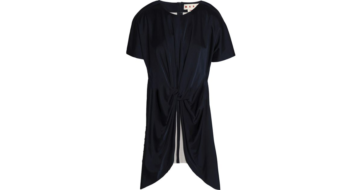 Footlocker Pictures Sale Online Cheap Comfortable Marni Woman Twist-front Crepe De Chine Blouse Midnight Blue Size 38 Marni Collections Sale Online Discount Wide Range Of xw8iFxIQ