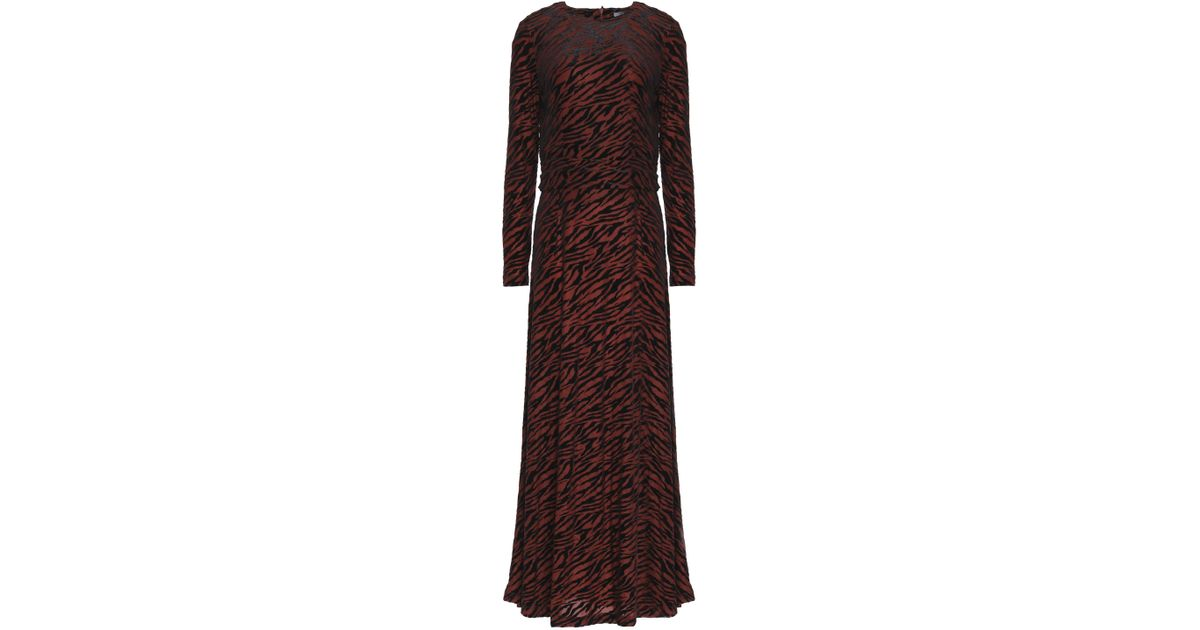 07e57f0d Ganni 3/4 Length Dress in Brown - Save 57% - Lyst