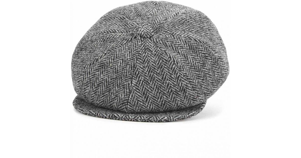 248823d9de9aa Lyst - Lock   Co. Grey Sandwich Tweed Flat Cap in Gray for Men
