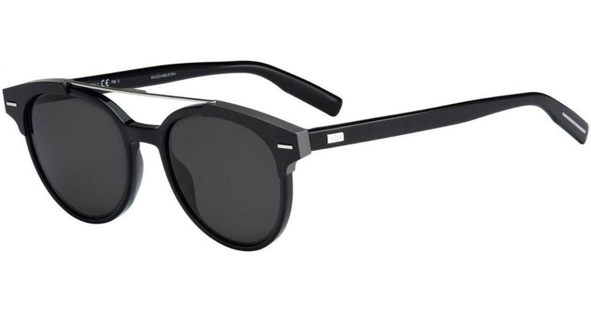 11714b6d850b Lyst - Dior Homme Black Tie Black Round Frames With Polarized Black Lenses  Sunglasses 220 s T64 y1 in Black for Men