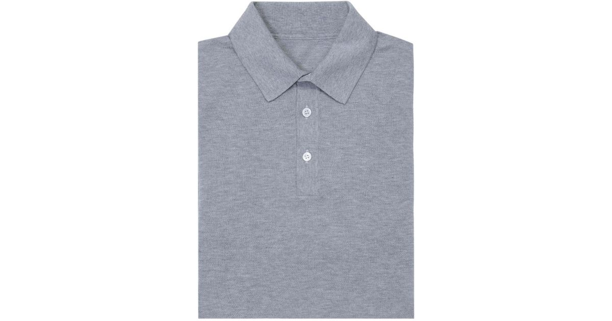 Light Grey Short Sleeve Cotton Polo Shirt Anderson & Sheppard Eastbay Cheap Online 2018 New Cheap Price Online Shopping Fashionable Cheap Price J3BNwcc