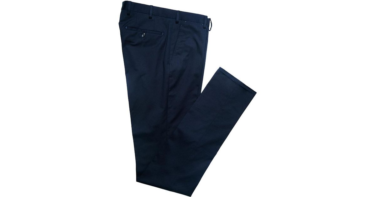 Discount Fast Delivery Navy Casual Cotton Trousers Rubinacci The Cheapest Cheap Price Professional For Sale Reliable Sale Online Footlocker Online mrih1LS4i