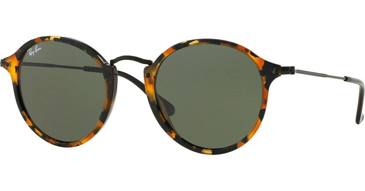 81903b43f69b5 Lyst - Ray-Ban Round Fleck Rb2447 1157 Tortoiseshell And Green Lenses  Sunglasses in Green for Men