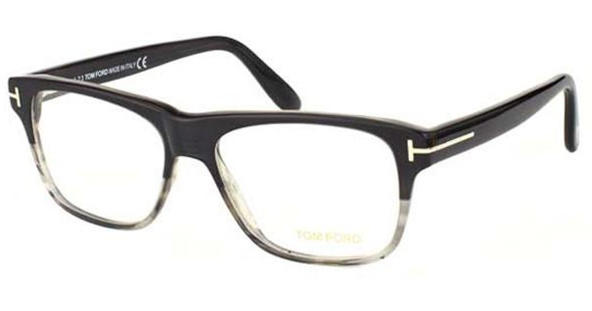 2aec0b7d808f Lyst - Tom Ford Black And Clear Large Square Frames With Clear Lenses  Eyewear Ft5312 005 in Black for Men