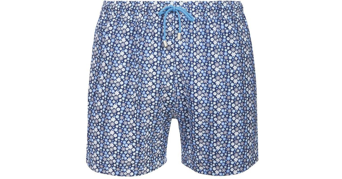6ead6d1b837f0 Lyst - Fumagalli 1891 Blue And White Panarea Floral Print Swimming Shorts  in Blue for Men
