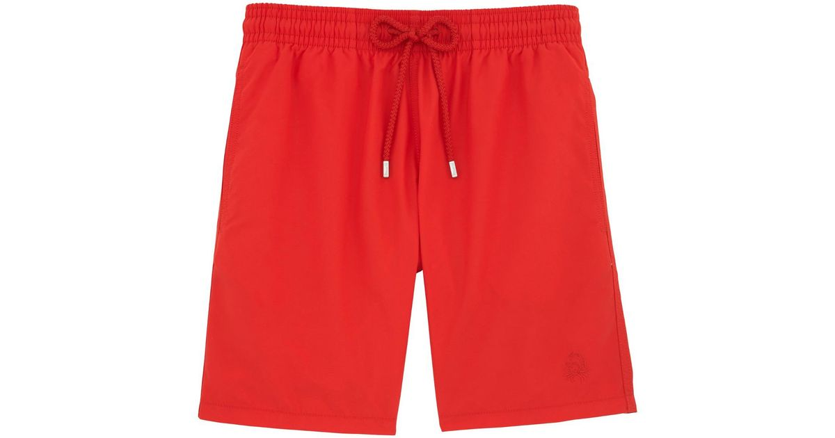 3a9609d59d Vilebrequin Red Crab And Seashell Water-reactive Swim Shorts in Red for Men  - Lyst
