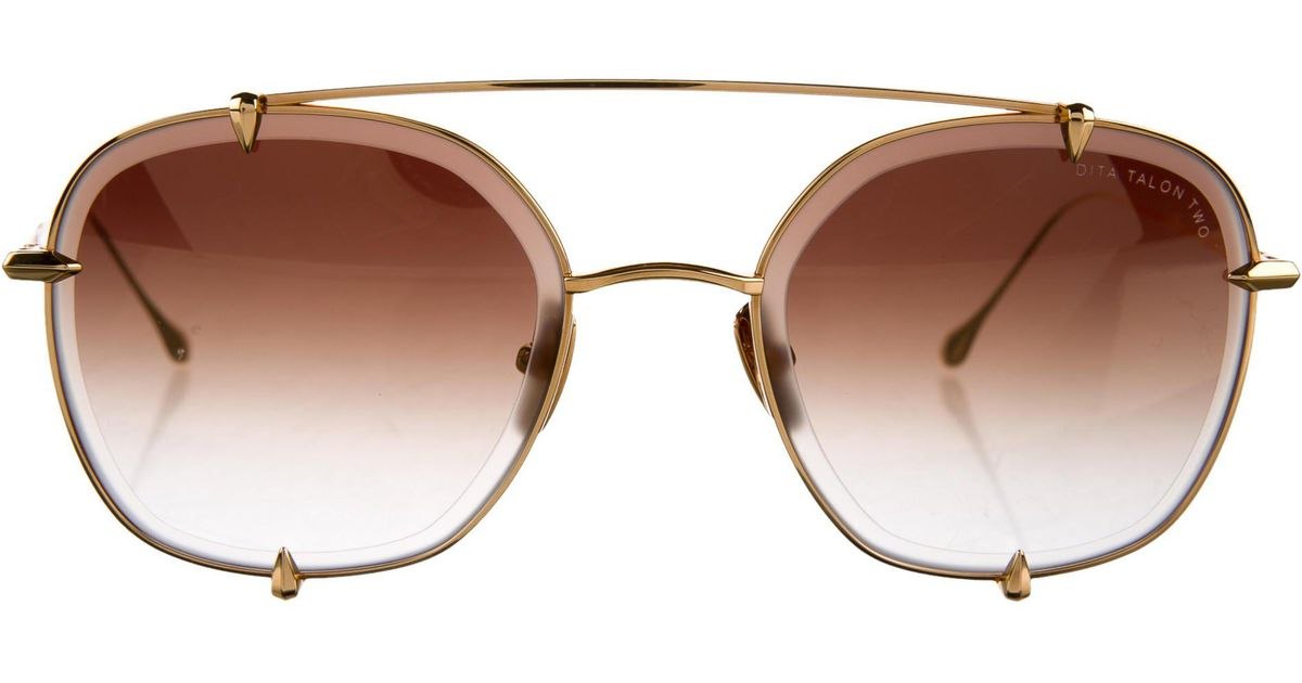 f24cc68fe41d Lyst - Dita Talon Two Gradient Sunglasses Gold in Metallic for Men