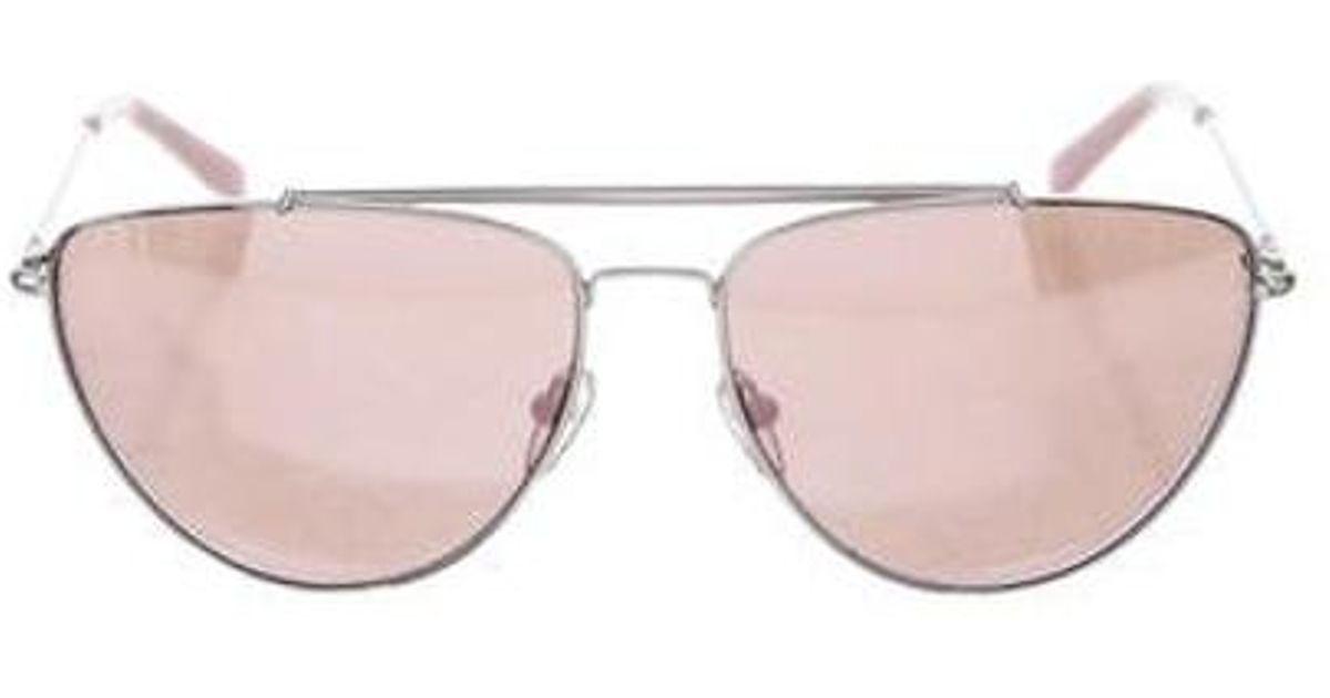 276fbbd84f1f7 Lyst - Diane Von Furstenberg Krista Aviator Sunglasses Silver in Metallic