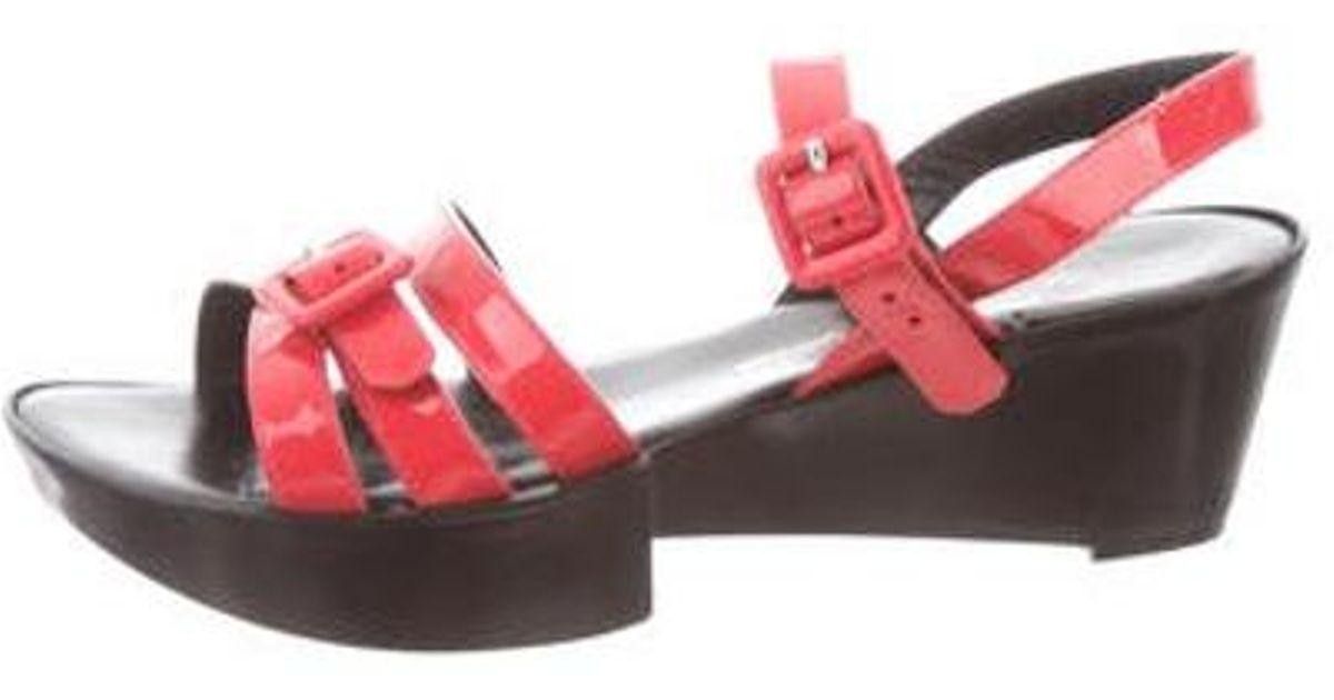 0464c6a4bd2 Lyst - Robert Clergerie Round-toe Platform Sandals Coral in Pink