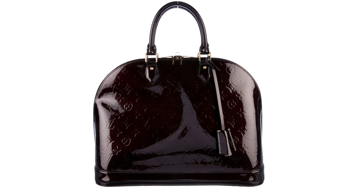 74d2ea1b03d4 Lyst - Louis Vuitton Vernis Alma Mm Burgundy in Red