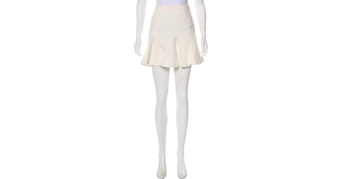 3fad7074f Lyst - 10 Crosby Derek Lam Ruffled Mini Skirt in White