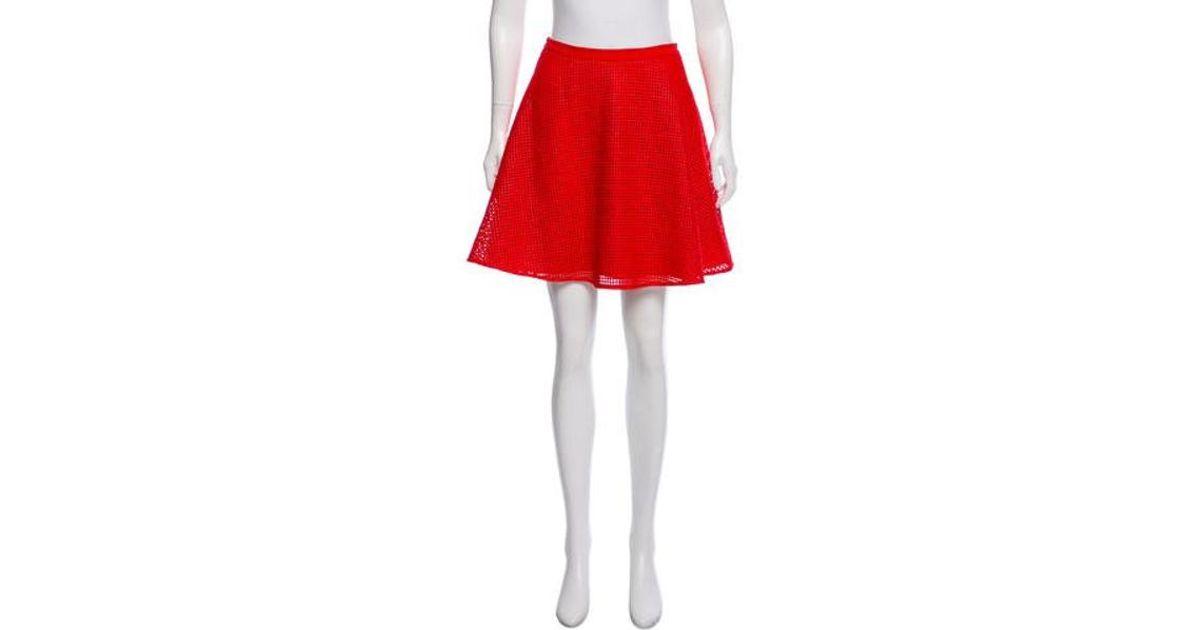 3d2b78a8bb Lyst - Sachin & Babi Mesh Overlay Mini Skirt Orange in Red