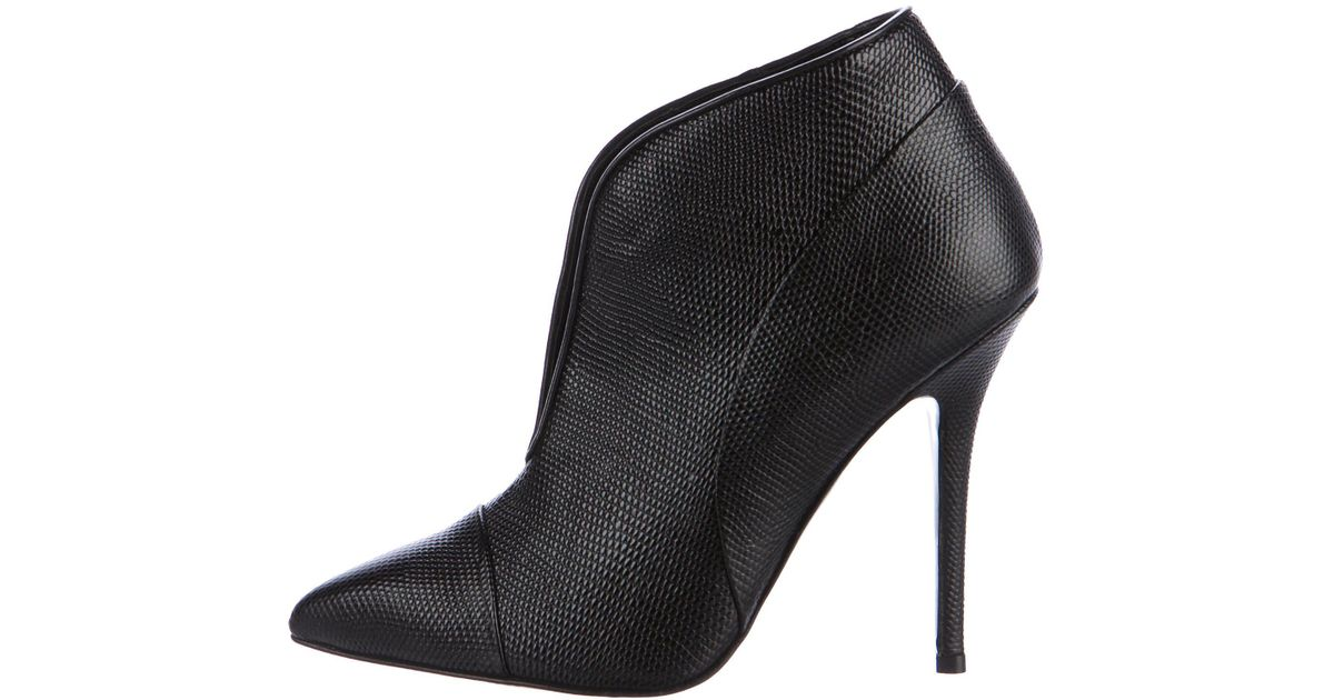 Proenza Schouler Embossed Leather Pointed-Toe Booties countdown package sale online clearance brand new unisex limited edition online clearance the cheapest discount with credit card B2zma