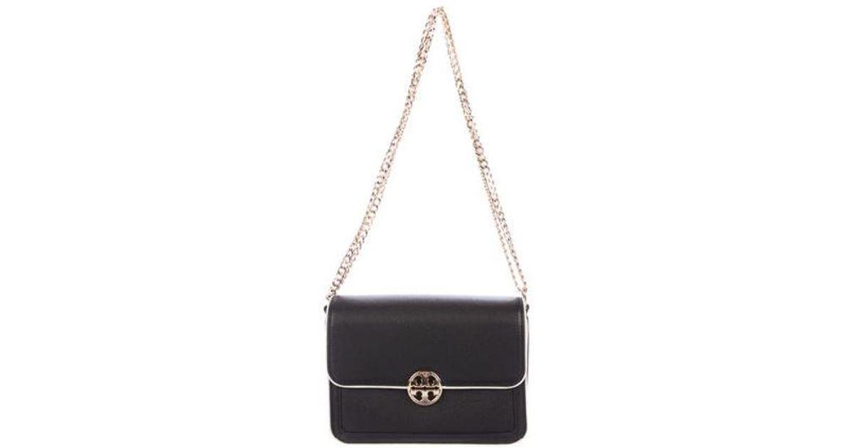 a8e881f36ab Lyst - Tory Burch Duet Chain Convertible Shoulder Bag W  Tags Black in  Metallic