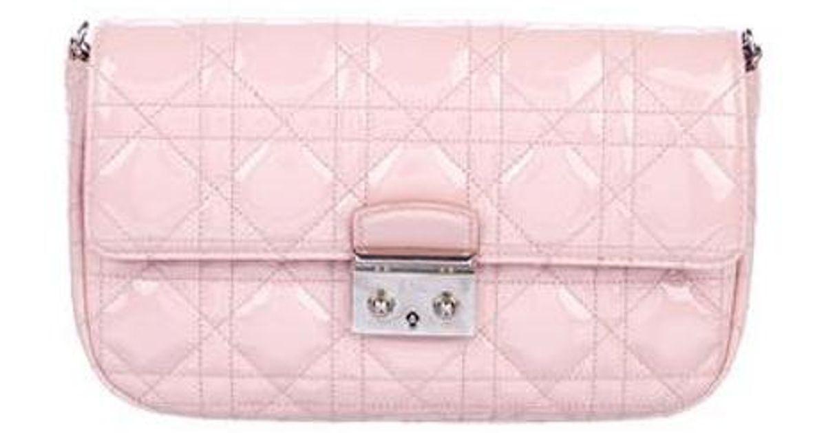 10f7146845e1 Lyst - Dior Miss Promenade Pouch Bag Rose in Metallic