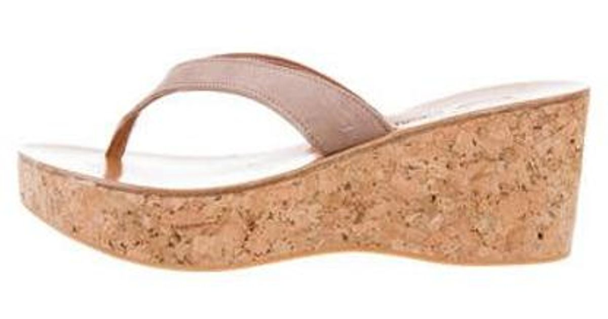 fe23f757634 Lyst - K. Jacques Platform Cork Wedges