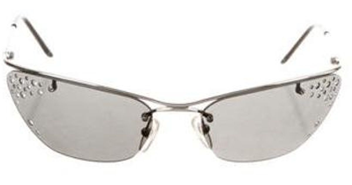 bfc7452ac21 Lyst - Oliver Peoples Dior Flash Rimless Sunglasses Silver in Metallic